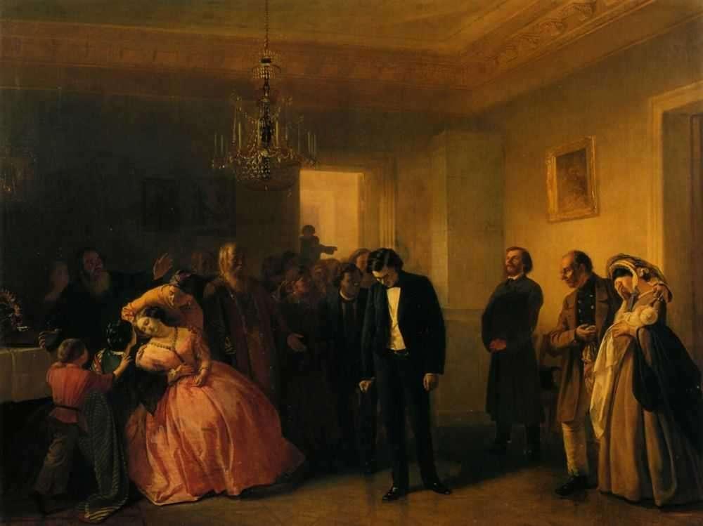 """Волков А. """"Прерванное обручение"""", 1860 г."""