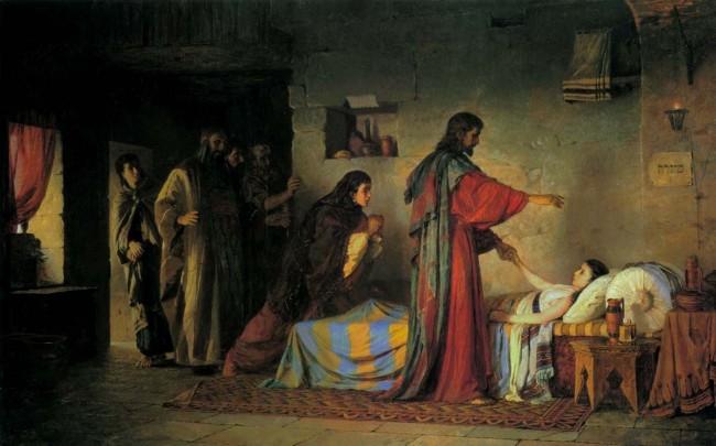 картина Поленова «Христос воскрешает дочь Иаира»
