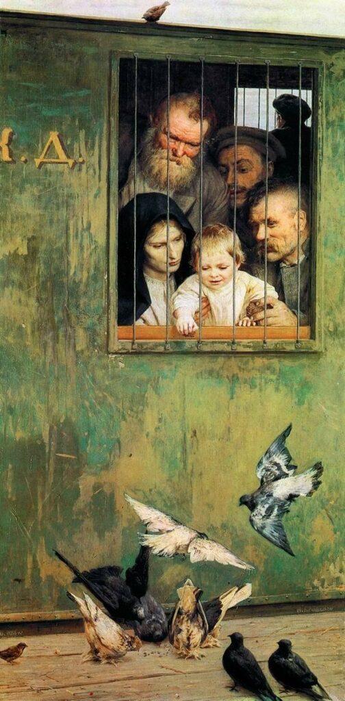 картина ЯРошенко Н. Всюду жизнь, 1888