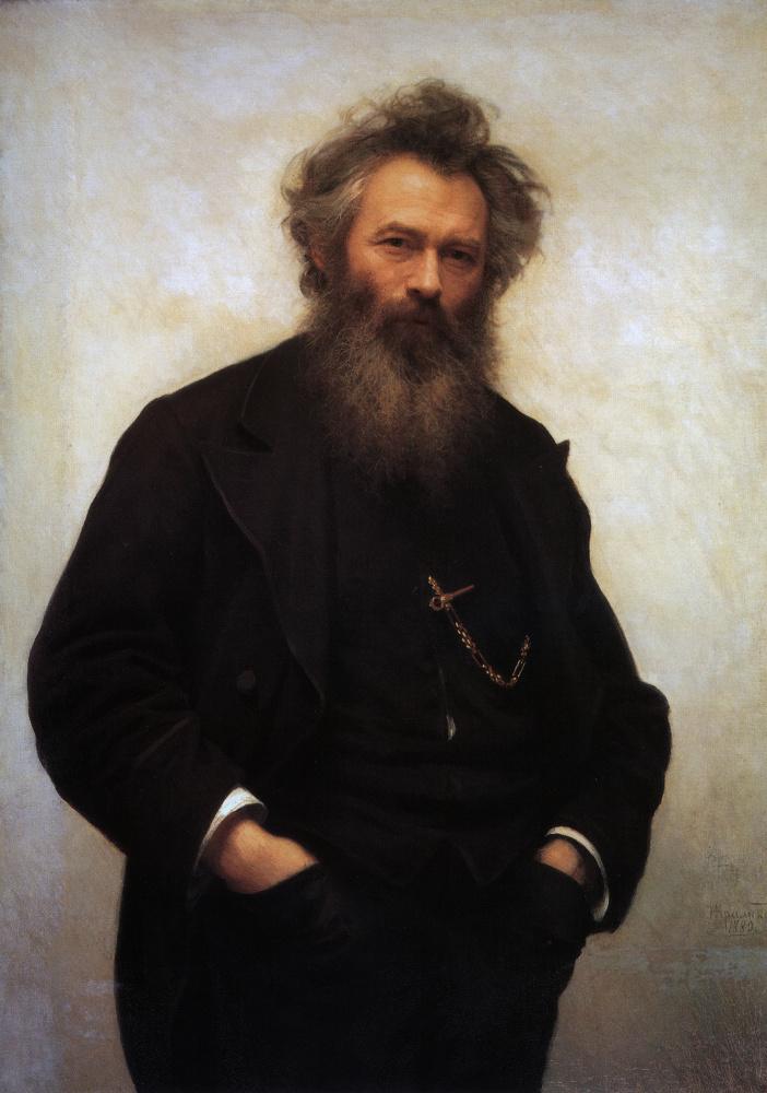 "картина Крамского ""Портрет И. И. Шишкина"""
