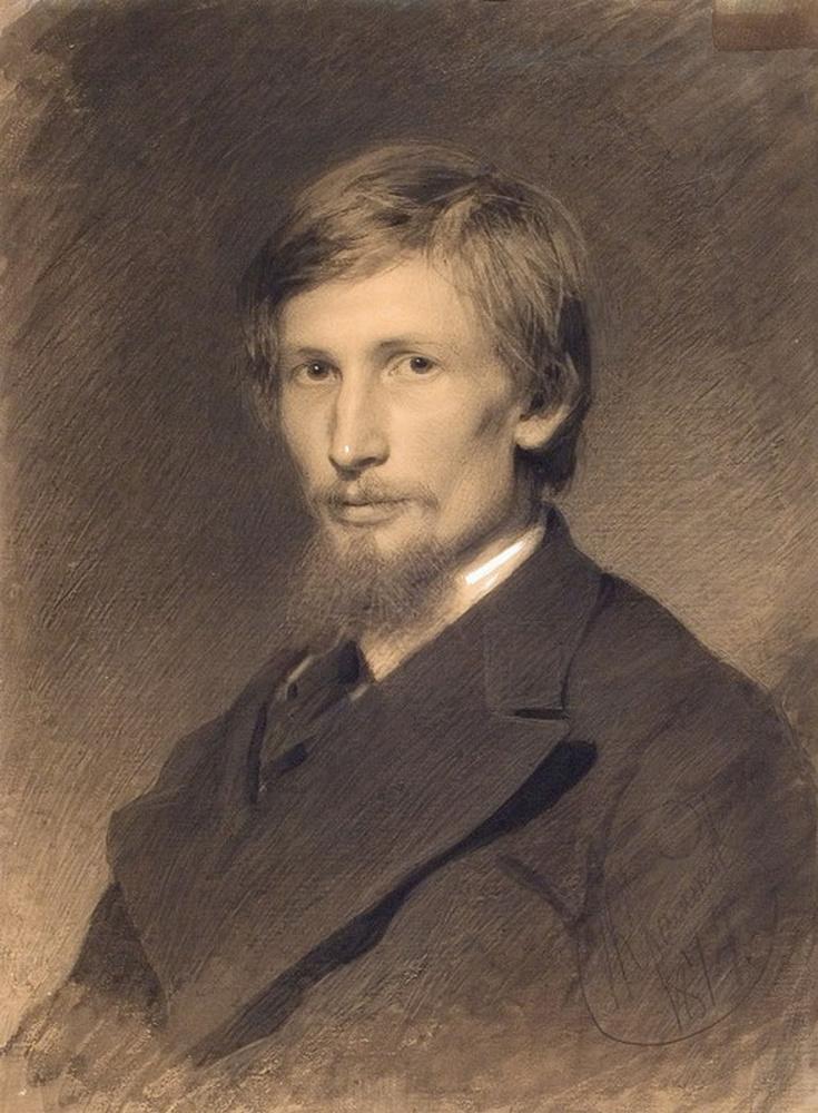 Картина Крамского Портрет художника Виктора Михайловича Васнецова,, 1874