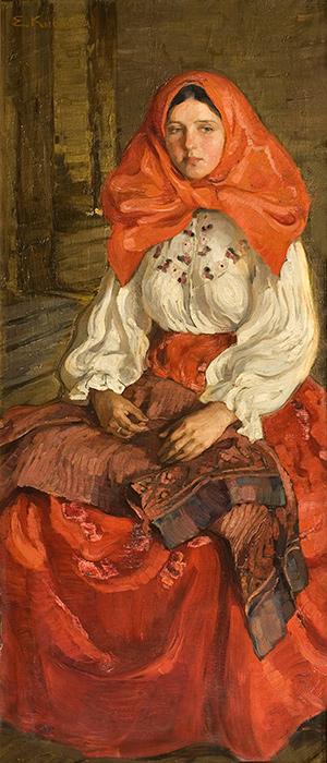 """Киселева Е. """"Девушка в красном"""" (1907)"""