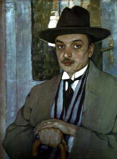 """Киселева Е. """"Портрет А. Д. Билимовича """" (1913)"""