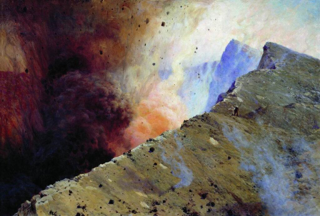 Ярошенко. Извержение вулкана. 1898