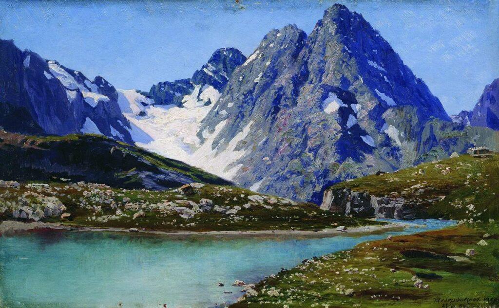 Ярошенко. Кавказ. Тебердинское озеро. 1894