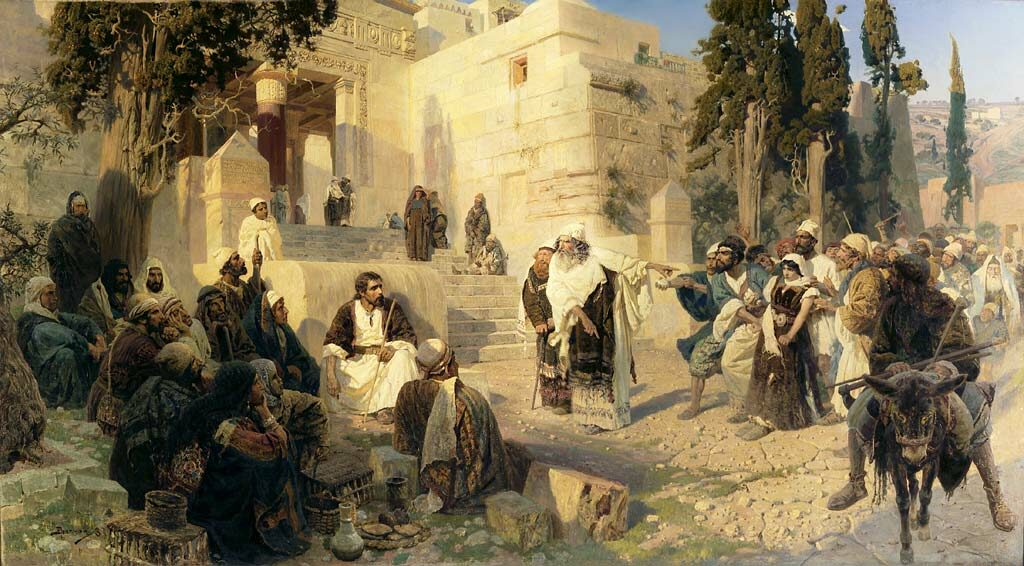 """картина Поленова """"Христос и грешница"""" (1888)"""