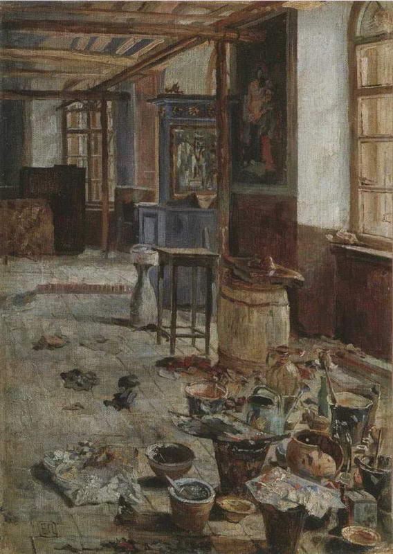 """картина Е. Поленовой """"Рабочий момент"""". 1880-е"""