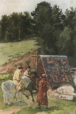 Иллюстрация Поленовой к сказке Сивка-бурка